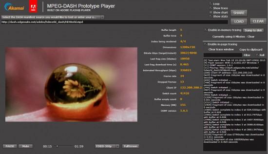 MPEG-DASH Prototype Player