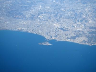 飛行機から見る江の島