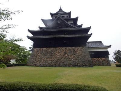 松江城天守閣側面