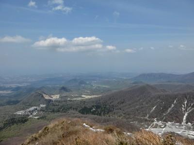 大山登り景色