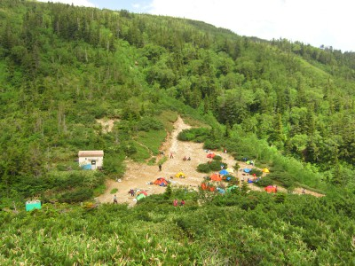 薬師峠キャンプ場 テント