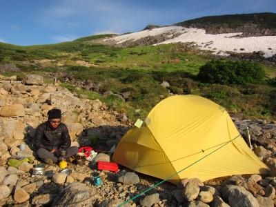 雲ノ平キャンプ場 テント