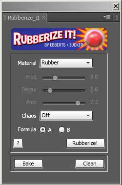 Rubberize It! 設定画面